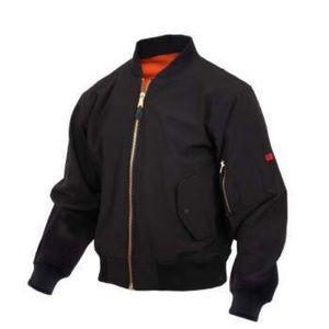 NEW!! Rothco Soft Shell MA-1 Flight Black Jacket